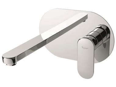 Wall-mounted brass washbasin mixer without waste 88055   Wall-mounted washbasin mixer