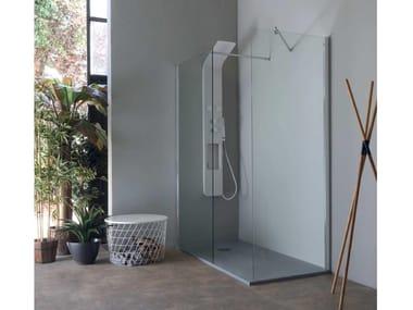Doccia walk-in in cristallo in stile moderno 8PAR53 | Doccia walk-in