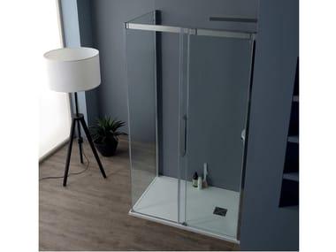 Box doccia angolare con porta scorrevole 8PSC15 + 8KLF | Box doccia angolare