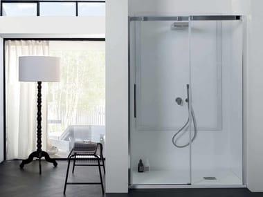 Box doccia in cristallo con porta scorrevole 8PSC15 | Box doccia a nicchia
