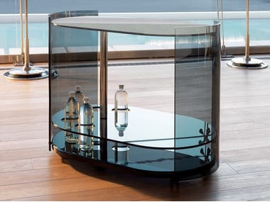 Glass drinks trolley 9000 | Coffee table