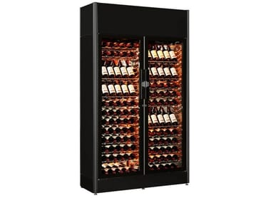 Professional glass wine cooler with built-in lights 9000 | Tempered glass wine cooler