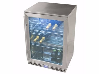 Single door stainless steel refrigerator with glass door CUN 900321 | Refrigerator