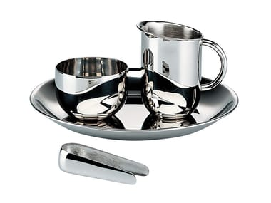 Steel sugar and cream set 90042 | Sugar and cream set