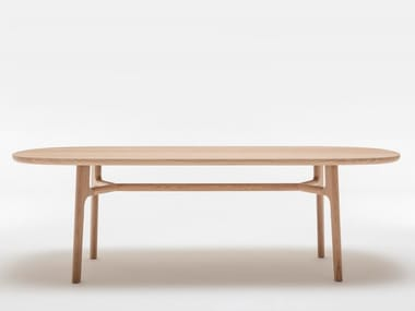 Rectangular solid wood dining table ROLF BENZ 909 | Rectangular table