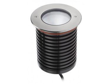 Segnapasso a LED a pavimento in acciaio 93012