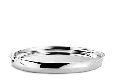 Round silver plated tray GOGGIA | Tray