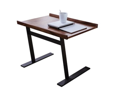 Steel and wood side table 9500 106/109
