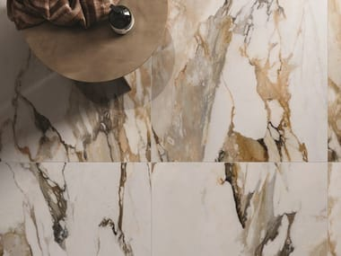 Porcelain stoneware wall/floor tiles with marble effect 9CENTO ALBA ORO