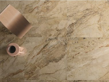 Porcelain stoneware wall/floor tiles with marble effect 9CENTO AURORA BEIGE