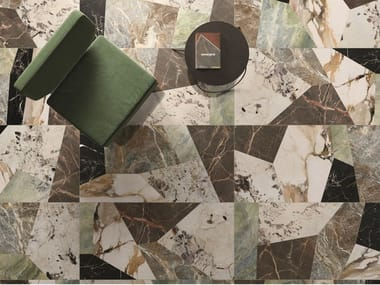 Porcelain stoneware wall/floor tiles with marble effect 9CENTO METAMORFOSI