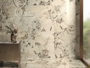 Porcelain stoneware wall/floor tiles with marble effect 9CENTO RIFLESSO BIANCO