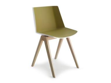 Stackable polypropylene chair AÏKU | Chair