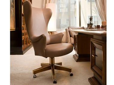 Swivel high-back leather armchair A 1462 | Armchair