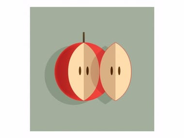 Print on paper A COUPLE OF APPLE