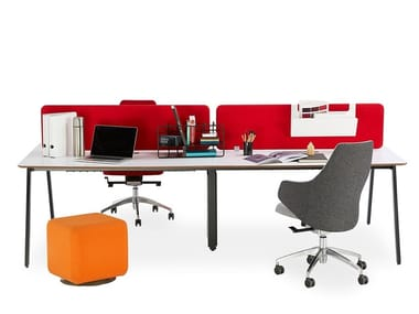 Multiple MDF office workstation for open space A-MASS   MDF office workstation