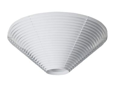 Lampada da soffitto fluorescente in acciaio A622 | Lampada da soffitto