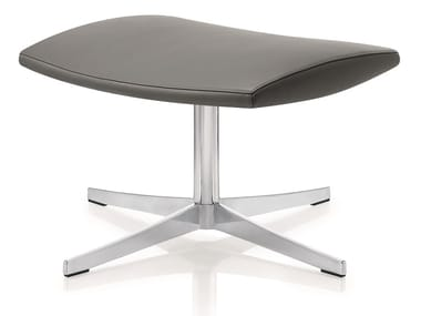 Swivel leather office stool 4+ RELAX | Office stool