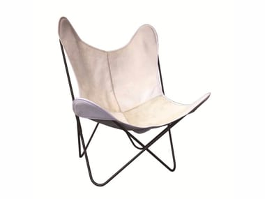 Folding cowhide armchair AA© LEATHER | Cowhide armchair