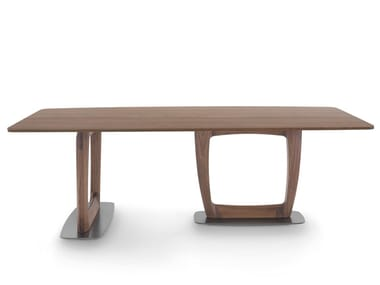Tavolo da pranzo rettangolare in frassino in stile moderno AARON