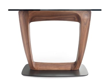 Wood and glass console table AARON   Console table