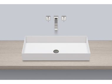 Sit-on basin from glazed steel AB.ME750