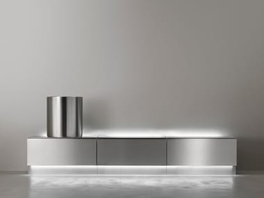 Modular bathroom system in stainless steel ABACO