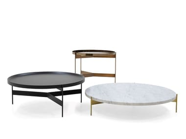Round coffee table with tray ABACO