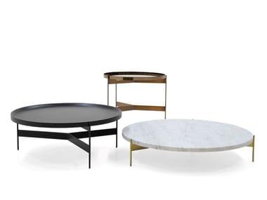 Mesa de centro redonda com tabuleiro ABACO