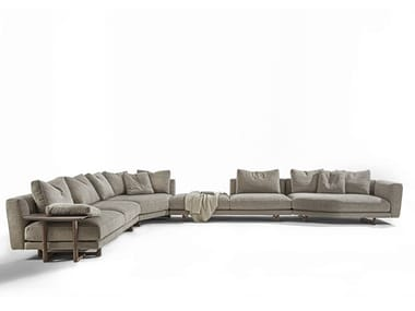 Corner sectional fabric sofa ABACUS | Corner sofa