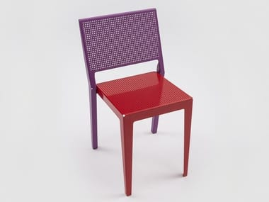 Stackable powder coated aluminium chair ABCHAIR