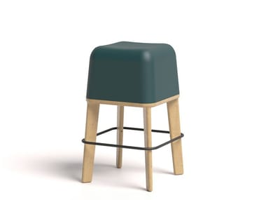 Ecological polyurethane high stool ABISKO 65 WOOD
