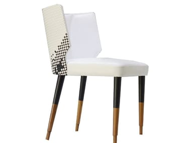 Upholstered leather chair ABLE | Chair
