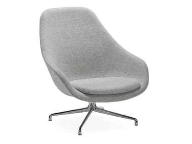 Swivel armchair with 4-spoke base with armrests ABOUT A LOUNGE CHAIR AAL91