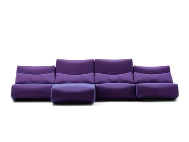Sofá modular de tecido com chaise-longues ABSENT   Sofá com chaise-longues