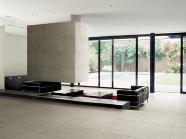 Indoor/outdoor wall/floor tiles with stone effect ABSOLUTE BEOLA BIANCA