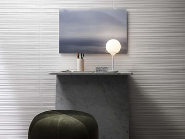 Rivestimento in ceramica ABSOLUTE WHITE | Fiber 3D Satin