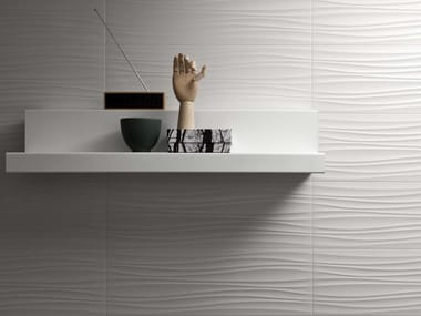 Rivestimento in ceramica ABSOLUTE WHITE | Twist 3D Satin