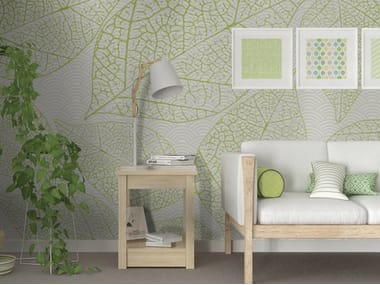 Motif adhesive washable wallpaper ABSTRACT LEAVES
