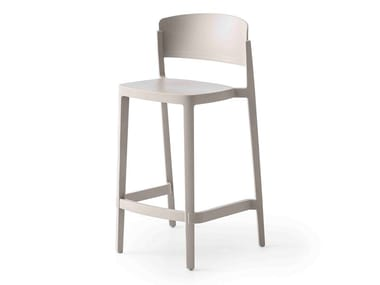 High wooden stool with back ABUELA   Stool