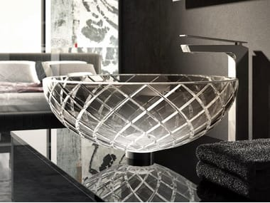 Round crystal washbasin AC 210 | Washbasin