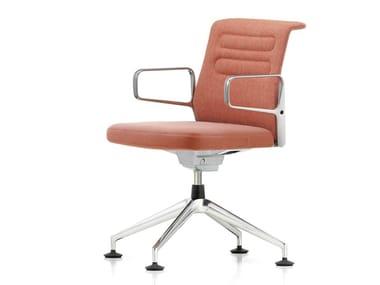 Swivel fabric chair AC 5 MEET | Fabric chair