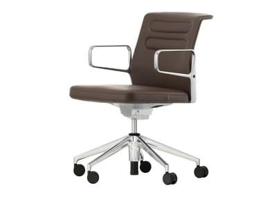 Sedia ufficio girevole in pelle AC 5 STUDIO | Sedia ufficio in pelle