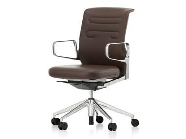 Sedia ufficio ad altezza regolabile girevole in pelle AC 5 WORK LOWBACK | Sedia ufficio in pelle