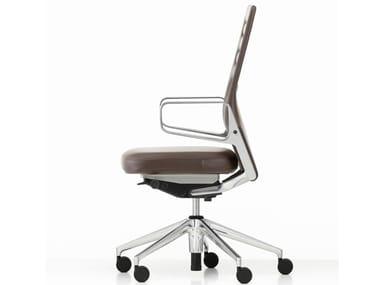 Sedia ufficio in pelle con schienale alto AC 5 WORK | Sedia ufficio in pelle