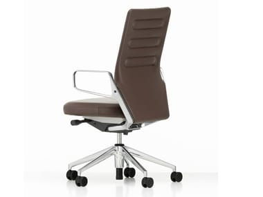 High-back leather executive chair AC 5 WORK | Leather executive chair