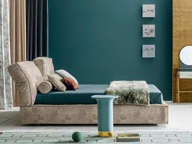 Doppelbett Bett aus Stoff mit verstellbarem Kopfteil ACADEMY PIUMA MOVE