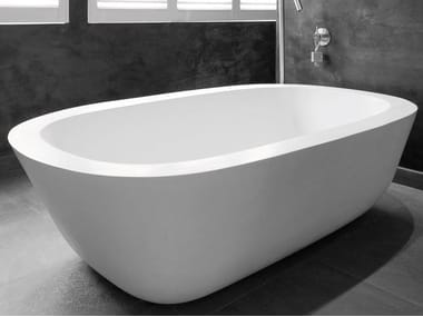 Freestanding oval bathtub ACANTHUS