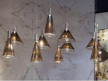 Lámpara colgante LED de vidrio de Murano ACCADEMIA | Lámpara colgante