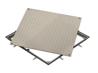 Chiusino e griglia per impianto idrosanitario ACCESS COVER SOLID SS - C250